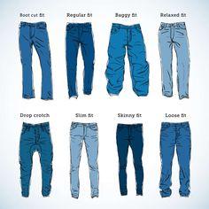dark jeans cuts dark jeans cuts bootcut drop crotch skinny baggy straight slim tapered diagram drawing shapes