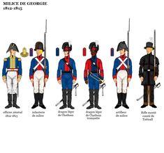 American War of 1812 Uniforms; American Uniform, American War, American Soldiers, Army Uniform, Uniform Dress, Military Uniforms, Independence War, Georgie, British Uniforms