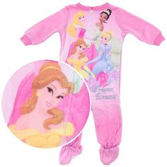 Disney Princess Dreams Footed Pajamas for Infant and Toddler Girls 18 Months