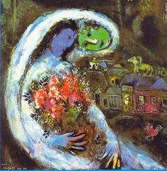 Marc Chagall, Bride with Blue Face, 1932 | Tutt'Art @ | Painting Sculpture * * * Poetry Music | See also http://www.marcchagallart.net/museum-28.php