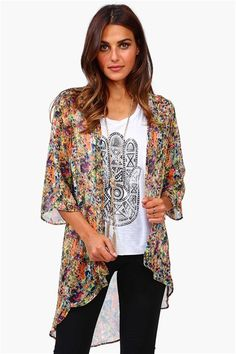 Splatter Paint Kimono in Multi
