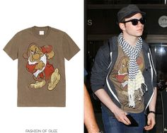 Chris Colfer arrives at LAX, Los Angeles, July 4, 2011    Target Grumpy T-shirt -   Worn with: Urban Outfitters scarf