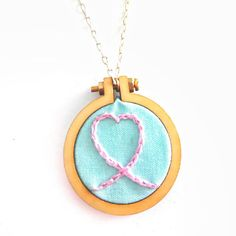 Heart Embroidery Necklace Stitched Heart Necklace Tiny #BohemianSummerTales #embroiderednecklace #miniembroidery #minihoopnecklace Etsy Jewelry, Cute Jewelry, Handmade Shop, Handmade Jewelry, Infinity Heart, Thing 1, Wooden Hoop, Cute Necklace, Love Gifts