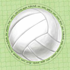 """Die cut title volleyball title you choose /""""Ace/""""  or /""""Spike it/"""""""