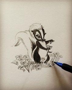 """He can call me flower if he wants to"" #bambi #disney #flower #skunk #cartoon…"