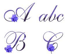 February Birth Flower Violet Alphabet