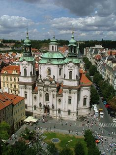 St. Nicholas church on Old Town Square in Prague is well known for its excellent acoustics.
