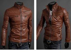 2014 New Men Suit  Fashion PU Leather Jacket  Plus Size S-L