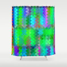 Re-Created  Flying Carpet IX Shower Curtain by Robert S. Lee - $68.00