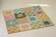 Vintage Style Baby Quilt by BlueElephantStitch on Etsy