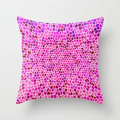 THINK PINK Throw Pillow by catspaws - $20.00