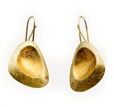 Elisenda de Haro. Earrings, silver and gold