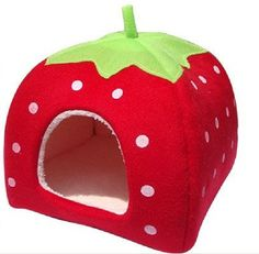 Brand new and high quality.It looks like a Strawberry and very lovely.House with a pad the pad can be taken outKeeps your dog cozy and warmIt can be foldedand easy to carry....