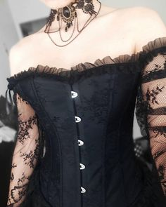 Gothic Outfits, Edgy Outfits, Grunge Outfits, Cool Outfits, Fashion Outfits, Corset Outfit, Goth Dress, Gothic Corset Dresses, Alternative Outfits