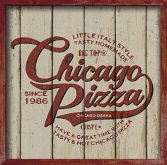 Vintage style logotype sign for Chicago Pizza Company No.2