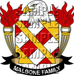 Malbone Family Crest apparel, Malbone Coat of Arms gifts