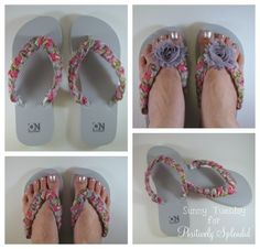 No-Sew Embellished Flip Flops | Positively Splendid {Crafts, Sewing, Recipes and Home Decor}