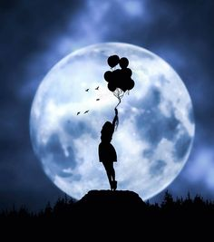 Moon balloons wallpaper by mustafasaidbilir - 98 - Free on ZEDGE™ Night Sky Wallpaper, Anime Scenery Wallpaper, Cute Wallpaper Backgrounds, Moonlight Photography, Moon Photography, Beautiful Nature Wallpaper, Beautiful Moon, Beautiful Fantasy Art, Cute Love Wallpapers