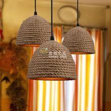 Amerikan endüstriyel retro cafe bar yaratıcı kişilik sanat el yapımı halat Avize(China (Mainland))