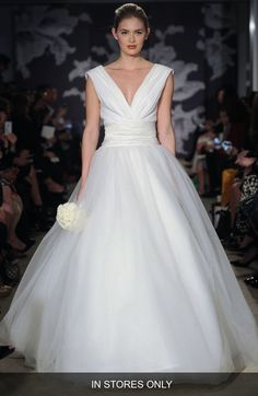 Carolina Herrera 'Chloe' V-Neck Georgette & Tulle Ballgown (In Stores Only) available at #Nordstrom