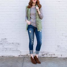 Be That Girl Our denim jeans are 40% off! Stop in to snatch a pair up! www.shopelysian.com  Tattooed Heart Military Vest $58. online  in-store.  Venice Scoop Neck Basic In Beige $32. online  in-store. Cali Vibes Turquoise Chocker $18. In-store only  Love N Lost Drop Necklace in Diamond $46. In store only. Erica Mid-Rise Jean $118. In store only. Must Have Mule Bootie In Chestnut $89.99. online  in-store. #WearElysianDaily http://ift.tt/2hWU3El Be That Girl Our denim jeans are 40% off! Stop…