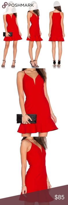 🆕 Greylin Red Valentines Deep V Sexy Dress I am blown away by the quality and look of this dress. It's a thick fabric with a full lining. It's sexy and flattering. Runs a little small, so size up if you're between sizes. Greylin Dresses Mini
