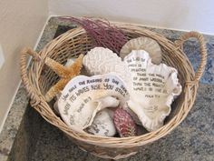 write scripture on shells - lots of other ways to display scripture in the home