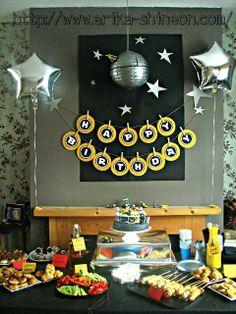 Risultati immagini per star wars lego party ideas Lego Birthday Party, Star Wars Birthday, 6th Birthday Parties, Birthday Ideas, 7th Birthday, Birthday Table, Star Wars Baby, Star Wars Lego, Aniversario Star Wars