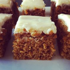 Pumpkin Bars with Cream Cheese Frosting - see my Review Board
