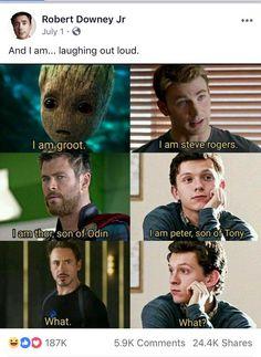 marvel avengers Source by genevieve_tkd Avengers Humor, Marvel Jokes, Funny Marvel Memes, Dc Memes, The Avengers, Funny Comics, Loki Meme, Disney Marvel, Really Funny Memes