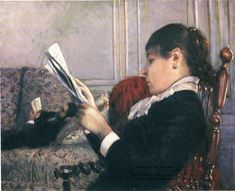 Gustave Caillebotte, Interior, Woman Reading, 1880