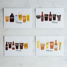 Seasonal Beer Cards (Set of 8) on Provisions by Food52