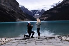 This camping proposal on Lake Louise has us swooning!