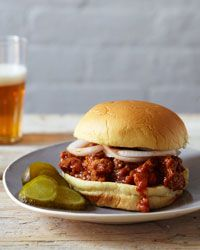 Spicy Sloppy Joes Recipe on Food & Wine  -  For the complete recipe, simply click on the photo.  ENJOY!