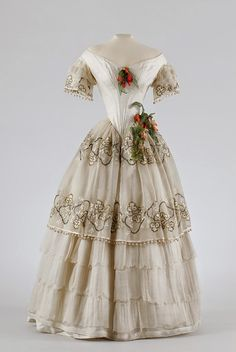 In the Swan's Shadow: Evening/ball gown, ca. 1850