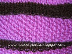 88c68522f39a8 made by sónia  Gola em tricot com ponto de arroz! - Kniting cowl scarf