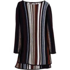 Maiyet Cashmere Sweater ($1,050) ❤ liked on Polyvore featuring tops, sweaters, dark blue, long sleeve tops, dark blue sweater, side slit sweater, cashmere sweater and pattern tops