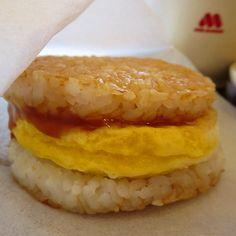 モスの朝ライスバーガー 「たまご 黄身醤油ソース」