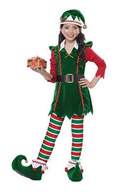 Children Kids Christmas Traditional Elf Hat Felt Polyester Gold Bell Boys Girls