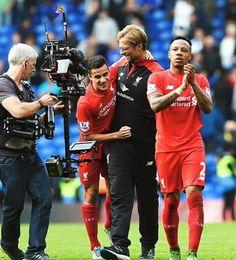 PL Chelsea vs Liverpool -    Klopp & Coutinho