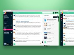 Slack UI concept - just for fun :) by Aaron Sampson