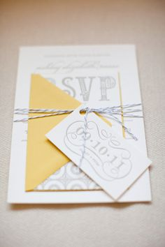 Twine wrapped invites. Photography by watson-studios.com, Paper Goods by thehappyenvelope.com