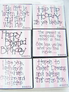 DOTS Rubber Stamp Set Birthday Greetings Foam by WitsEndDesign, $15.00