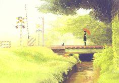"""げみ (Gemi), """"青時雨"""" (""""Green Rain""""??)"""
