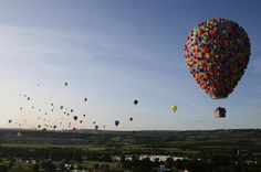 A hot air balloon Disney made inspired by the Pixar movie, Up.