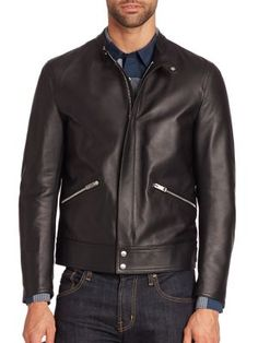 f121c79f8 BURBERRY Solid Lamb Leather Jacket.  burberry  cloth  jacket