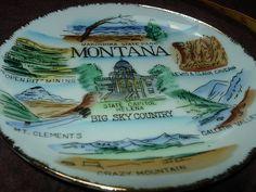 Vintage Souvenir 7 Ceramic Montana Plate 2   eBay