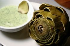 Steamed Artichokes with Eggless Basil Mayonnaise Dip Recipe on Food52 recipe on Food52