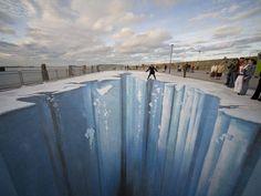"""""""Crevasse"""", de Edgar Muller (galeria de street art em 3D)"""