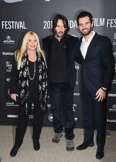 "Producer Monika Bacardi, Actor Keanu Reeves and Producer Andrea Iervolino attend the ""To The Bone"" Premiere on day 4 of the 2017 Sundance Film Festival at Eccles Center Theatre on January 22, 2017 in Park City, Utah."
